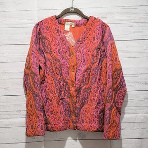 Territory Ahead Multi-Color Abstract Boho Blazer M